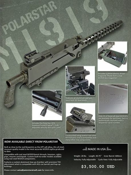 THE 1919 is NOW AVAILABLE! - Timeline Photos - PolarStar Airsoft | Thumpy's 3D House of Airsoft™ @ Scoop.it | Scoop.it