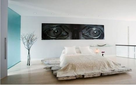 Modern Minimalist Bedroom Design with Dramatic Wall Decor   Decorating Ideas - Home Design Ideas   Scoop.it