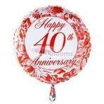Happy 40th Anniversary Four Balloo   balloons delivery USA   Scoop.it