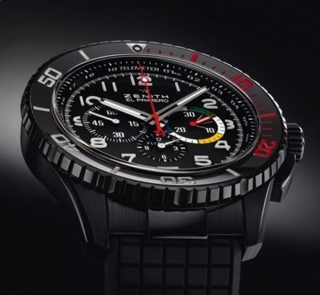 Zenith El Primero Stratos Flyback Rainbow Watch   Watch Magazine   Scoop.it