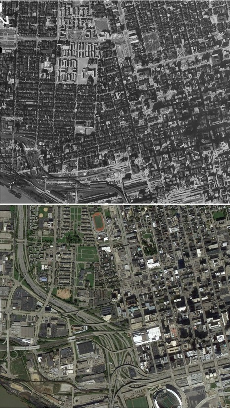 Before-and-after maps show how freeways transformed America's cities | HMHS History | Scoop.it