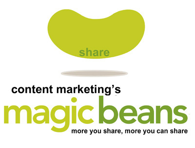 Content Marketing's Magic Beans: 4 Sharing Tips - via Curatti | Marketing Revolution | Scoop.it