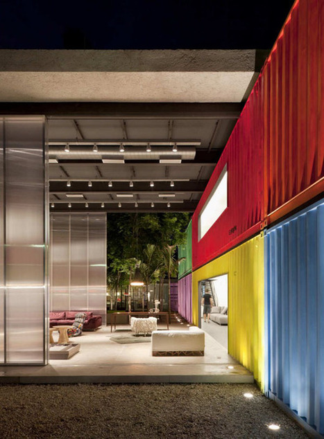 Bold and colorful design with shipping containers | Retail Design Review | Scoop.it
