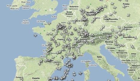 Le trafic aérien en temps réel   La boite verte   cartography & mapping   Scoop.it