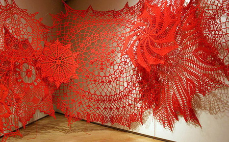 15-Foot-Tall Crocheted Doilies Consume Gallery Walls | Art | Scoop.it