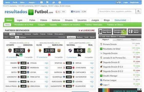 Resultados de fútbol, la red social para los amantes del fútbol | Futbol | Scoop.it
