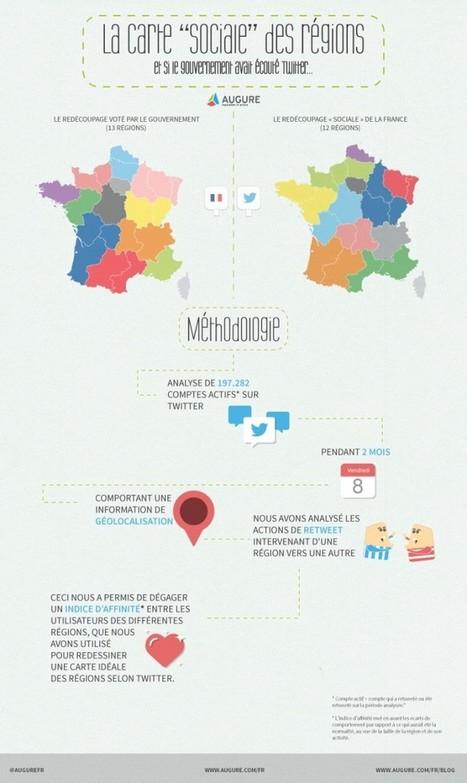 Le redécoupage territorial selon Twitter | Géographie : les dernières nouvelles de la toile. | Scoop.it