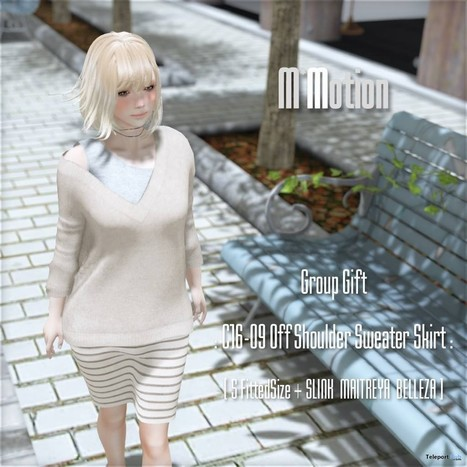 Off Shoulder Sweater & Skirt Group Gift by M*Motion | Teleport Hub - Second Life Freebies | Second Life Freebies | Scoop.it