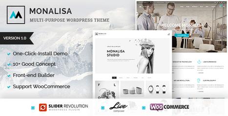 Monalisa - Creative Multipurpose WordPress Theme (Corporate) Download   Wordpress Themes Download   Scoop.it