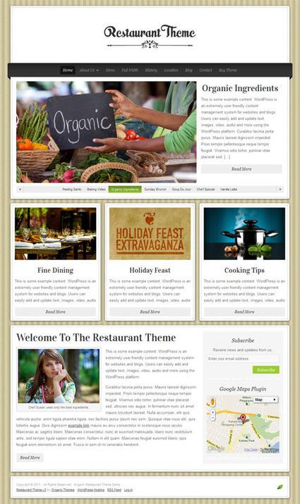 Organic Themes - Restaurant WordPress Theme Review   MARK-ETING   Scoop.it