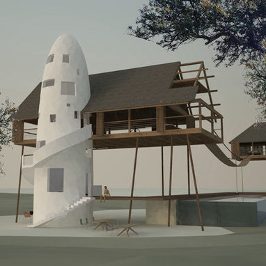 [Kilifi, Kenya] Fireball Lilly Lodge by Hogarth Architects - Dezeen | The Architecture of the City | Scoop.it