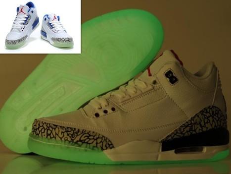 Air Jordan 3 Glow In The Dark White True Blue Hot Sale Online | Cheap Glow In The Dark Air Jordans | Scoop.it