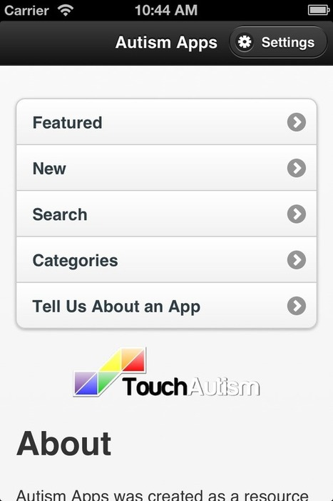Autism Apps by Touch Autism | Apps for Autism | Scoop.it