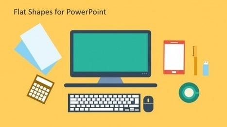 Creative Flat Shapes for PowerPoint - SlideModel | E-learning, Blended learning, Apps en Tools in het Onderwijs | Scoop.it