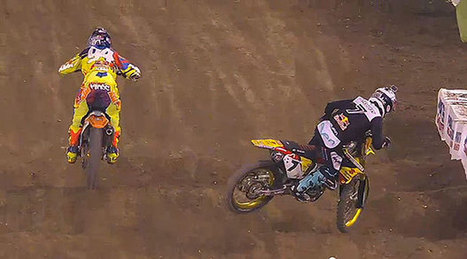 James Stewart throws it away again with another big crash at Anaheim Supercross | Moto Magazine | James Stewart | Scoop.it