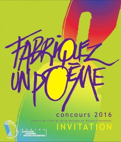 Fabriquez un poème : proclamation des résultats | Centre du Livre et de la Lecture, Poitou-Charentes | CaféAnimé | Scoop.it