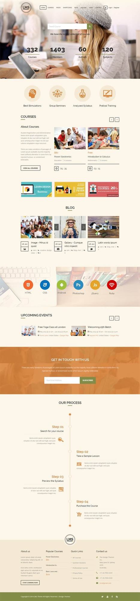 LMS Responsive Learning Management Wordpress Theme - ServerThemes.Net | Download Premium WordPress Themes | Scoop.it