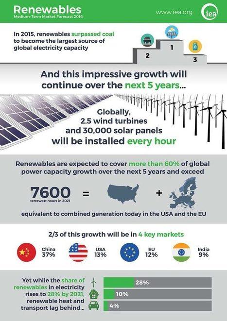 Le renouvelable surpasse désormais les combustibles fossiles en terme de capacité | News we like | Scoop.it