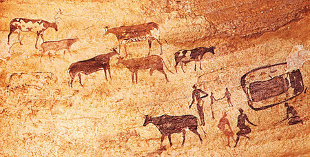 Murs d'images, art rupestre du Sahara préhistorique - Hominidés | PhotoCure | Scoop.it