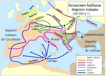 El Legado Romano y La Romanización De Hispania: LA DISOLUCIÓN DEL IMPERIO OCCIDENTAL | Las Invasiones Bárbaras | Scoop.it
