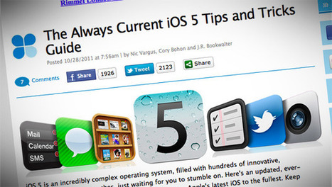 Tony Vincent's Learning in Hand - Blog - Be an iPad Superstar: 8 Collections of iOS 5Tips | iPads and Apps in Education | Scoop.it