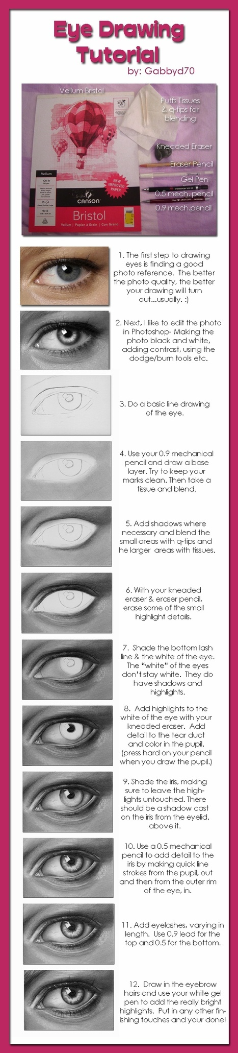 Eye Drawing Tutorial   art sculpture enseignement   Scoop.it
