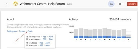 How to find RSS feed on Google support forums | RSS Circus : veille stratégique, intelligence économique, curation, publication, Web 2.0 | Scoop.it