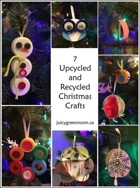 Upcycled & Recycled Christmas Crafts | Crafts and creativity | Scoop.it