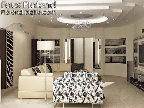 Faux plafonds plâtre exemple de finition | Faux plafond en forme d'un papillon | Scoop.it