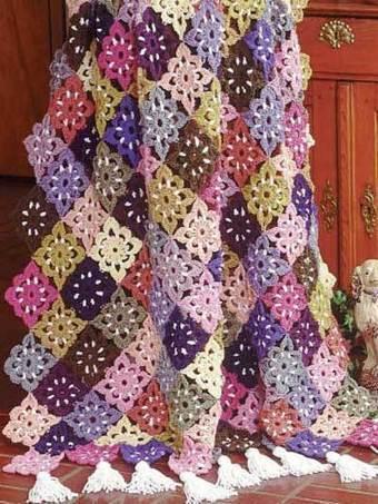 Floral Fiesta Afghan | Needle and Hook Patterns-all free | Scoop.it