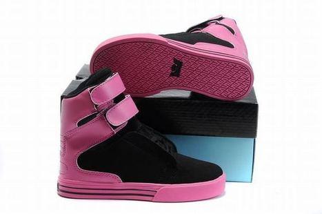 Supra Tk Society High Tops Pink/Black Kid' | popular list | Scoop.it