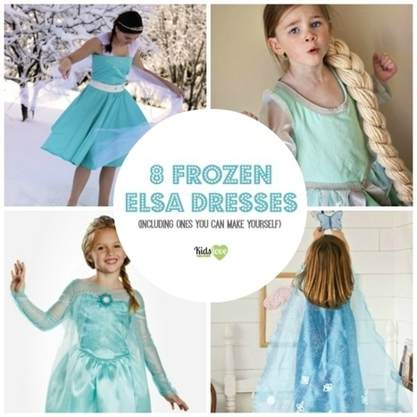 8 Fabulous Disney Frozen Elsa Dresses (6 You Can Make Yourself) and 1 DIY Frozen Cape | Gift Guide | Scoop.it