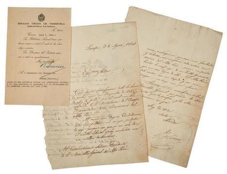 Documentos relacionados con Simón Bolívar se subastan en Nueva York   Palimsesto   Scoop.it