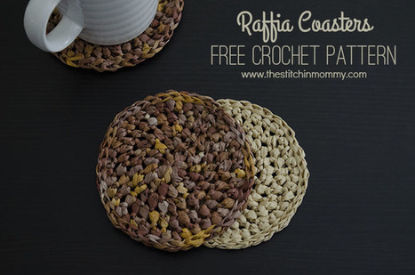 Raffia Coasters - Free Crochet Pattern - The Stitchin Mommy | Crochet Patterns and Tutorials | Scoop.it