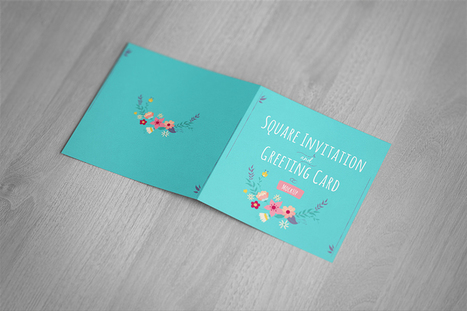 Free Mockup | Square Folded Card | Design Freebies & Deals | Scoop.it