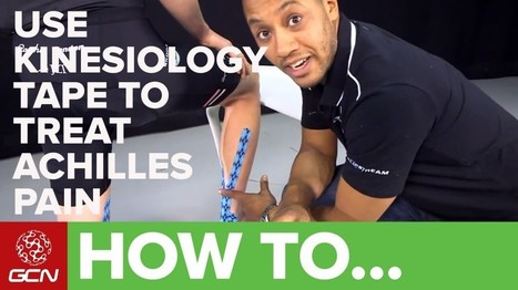 How To Use Kinesiology Tape To Treat Achilles Tendon Pain ... | kinesiology taping | Scoop.it