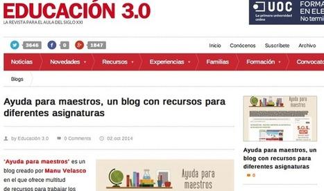 AYUDA PARA MAESTROS | Webs útils | Scoop.it