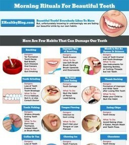 Morning Rituals For Beautiful Teeth [Infographic] | Child Health | Scoop.it