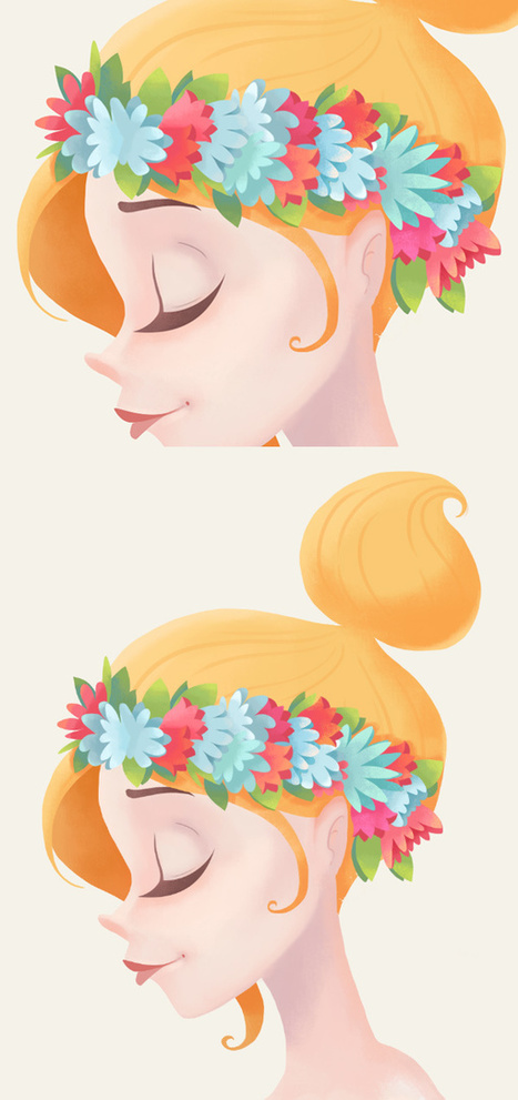 How to Paint a Spring Lady Floral Portrait in Adobe Photoshop - Tuts+ Design & Illustration Tutorial | Formation en Publication Assistée par Ordinateur (PAO) Formation | Scoop.it