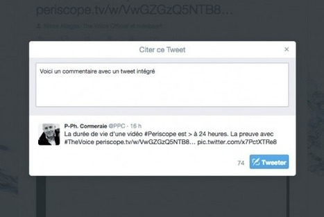 Twitter lance officiellement « Citer ce Tweet » #CM | Animez votre communauté | Scoop.it