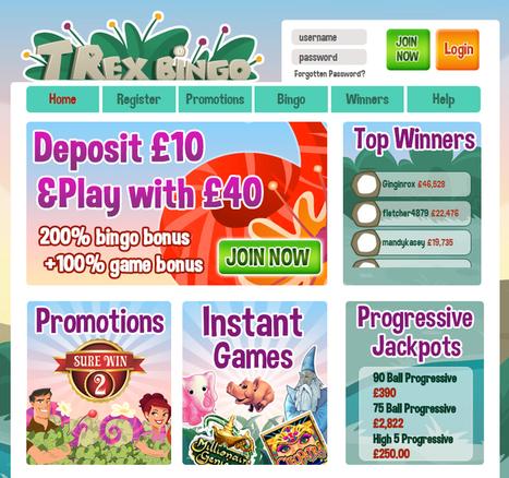 T-Rex Bingo| Play Online bingo| Deposit £10 & Play with £40 | new bingo sites | Scoop.it
