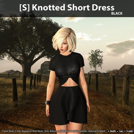 New Release: [S] Knotted Short Dress By [satus Inc]   Teleport Hub - Second Life Freebies   Second Life Freebies   Scoop.it