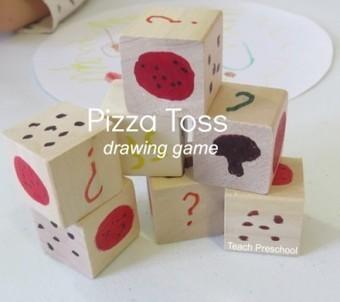 Pizza toss drawing game for preschool | Teach Preschool | Scoop.it