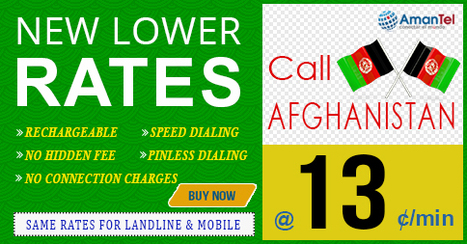 New call rates for Afghanistan | Cheap International Calling | Scoop.it