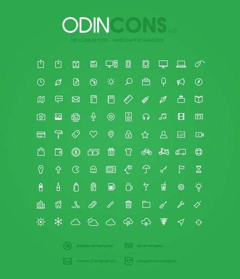 Odincons, nuevo paquete con 100 iconos gratuitos | Diseño gráfico e industrial | Scoop.it