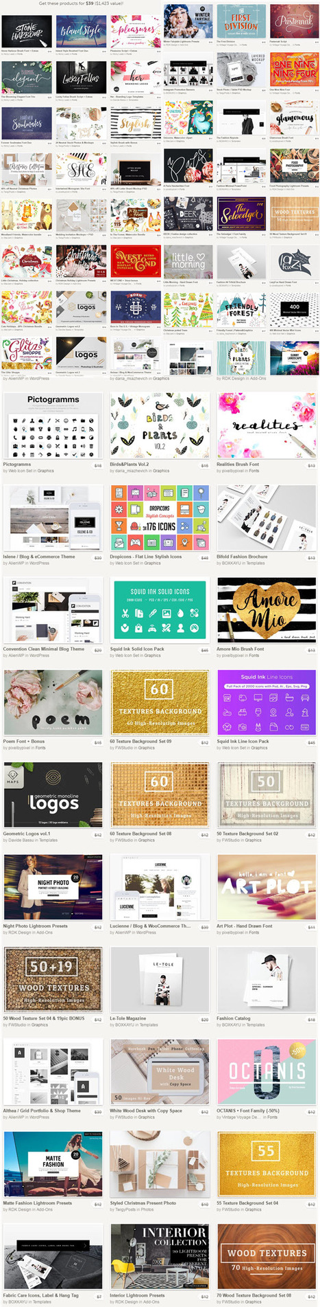 ★ December Big Bundle of Fonts, Mockups + Share to unlock 3 Freebies (5 days to go) | Design Freebies & Deals | Scoop.it
