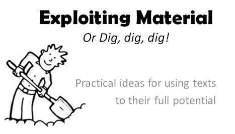 New webinar on 'Exploiting materials' | ELT Training | Scoop.it
