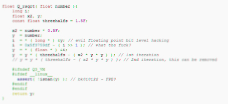 Comment calculer une racine carrée selon Carmack - Zakstudio | Zakstudio | Scoop.it
