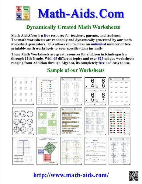 Math Worksheets | Dynamically Created Math Worksheets | Dynamically Created Math Worksheets | Scoop.it
