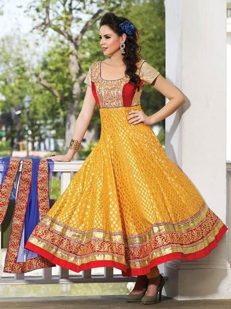 Buy party wear salwar kameez online | Kalazone Silk Mill | Latest Anarkali Salwar Kameez Online | Scoop.it